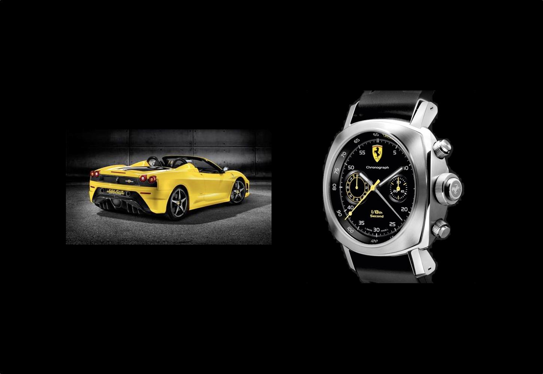 Ferrari Scuderia Spider and Wristwatch