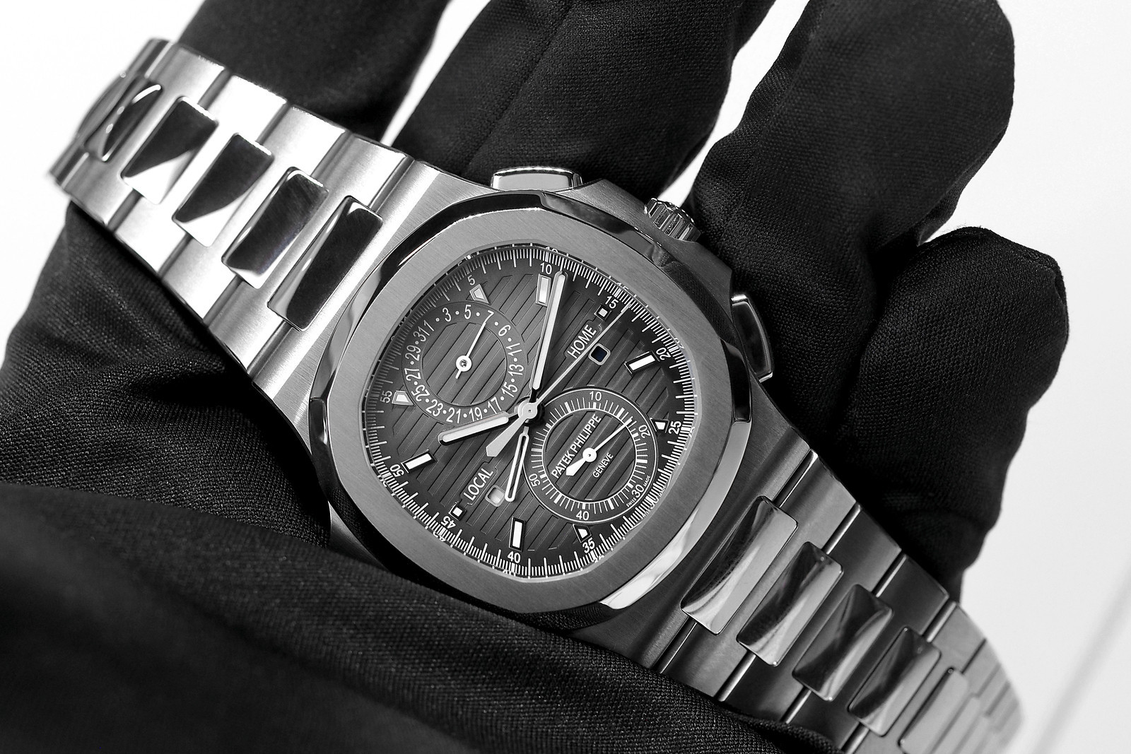 9d8869a61b6ce Hands-On with the Patek Philippe Nautilus Chronograph Travel Time 5990A