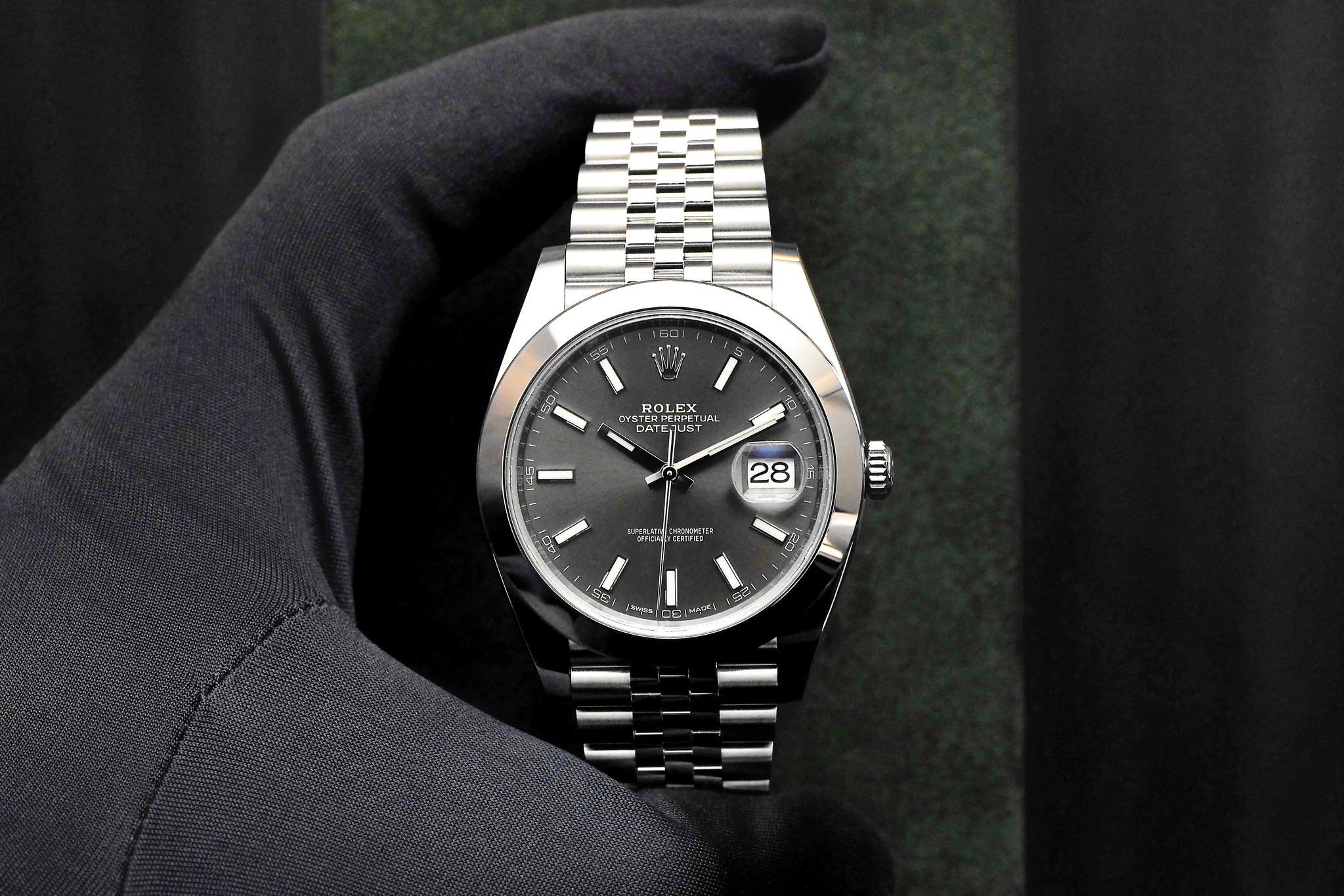 Rolex Datejust 41 in Steel with Dark Rhodium dial and
