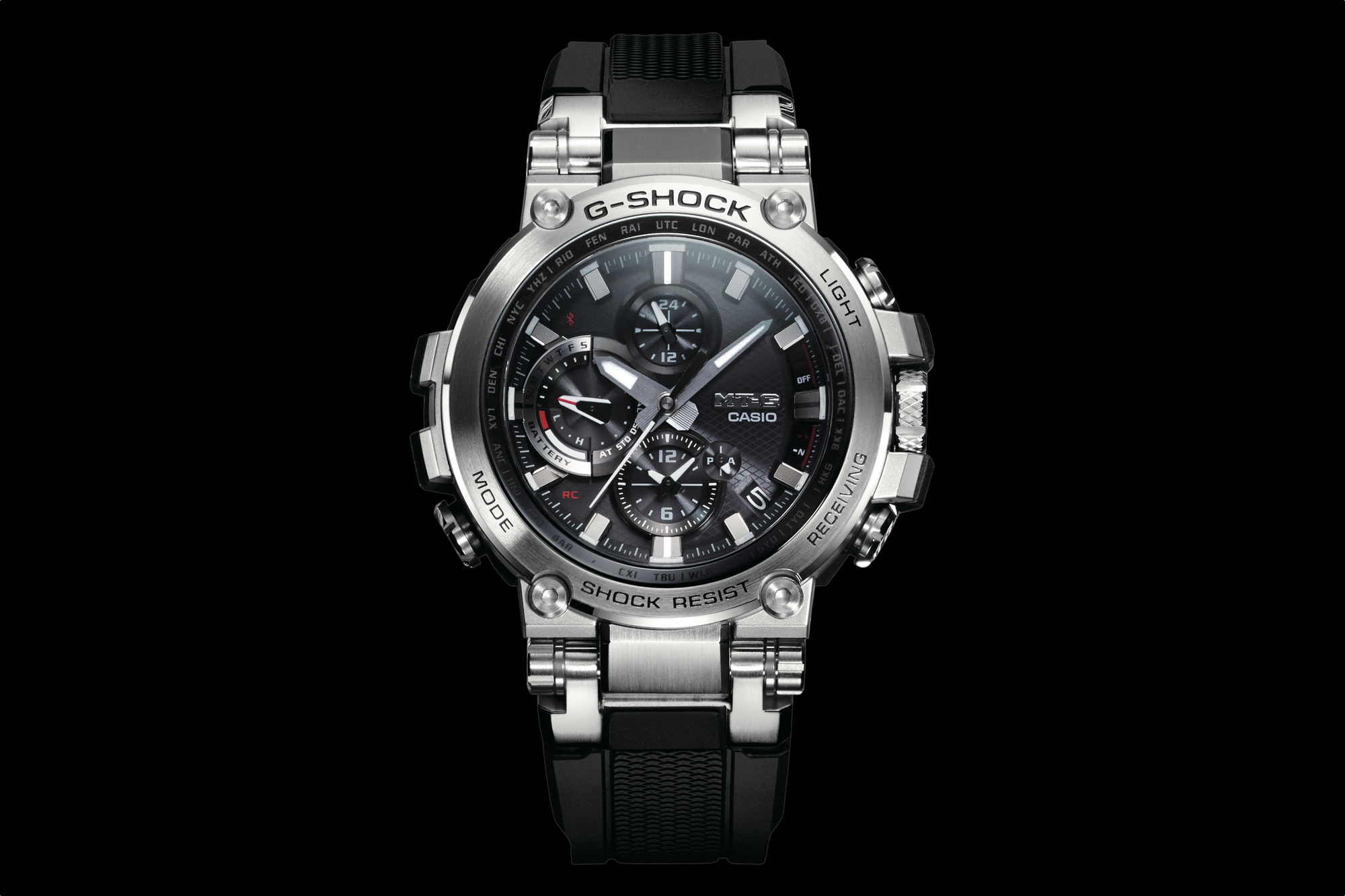 how to change time in casio g shock