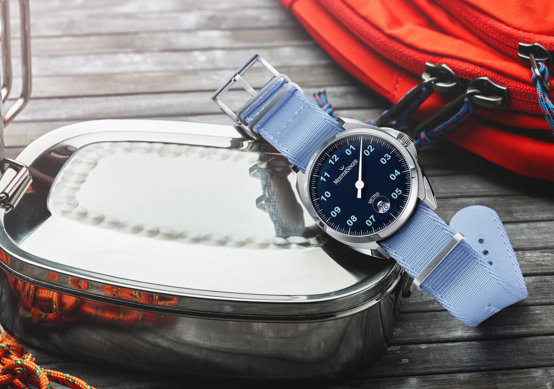 Meistersinger Metris blue dial with blue Nato