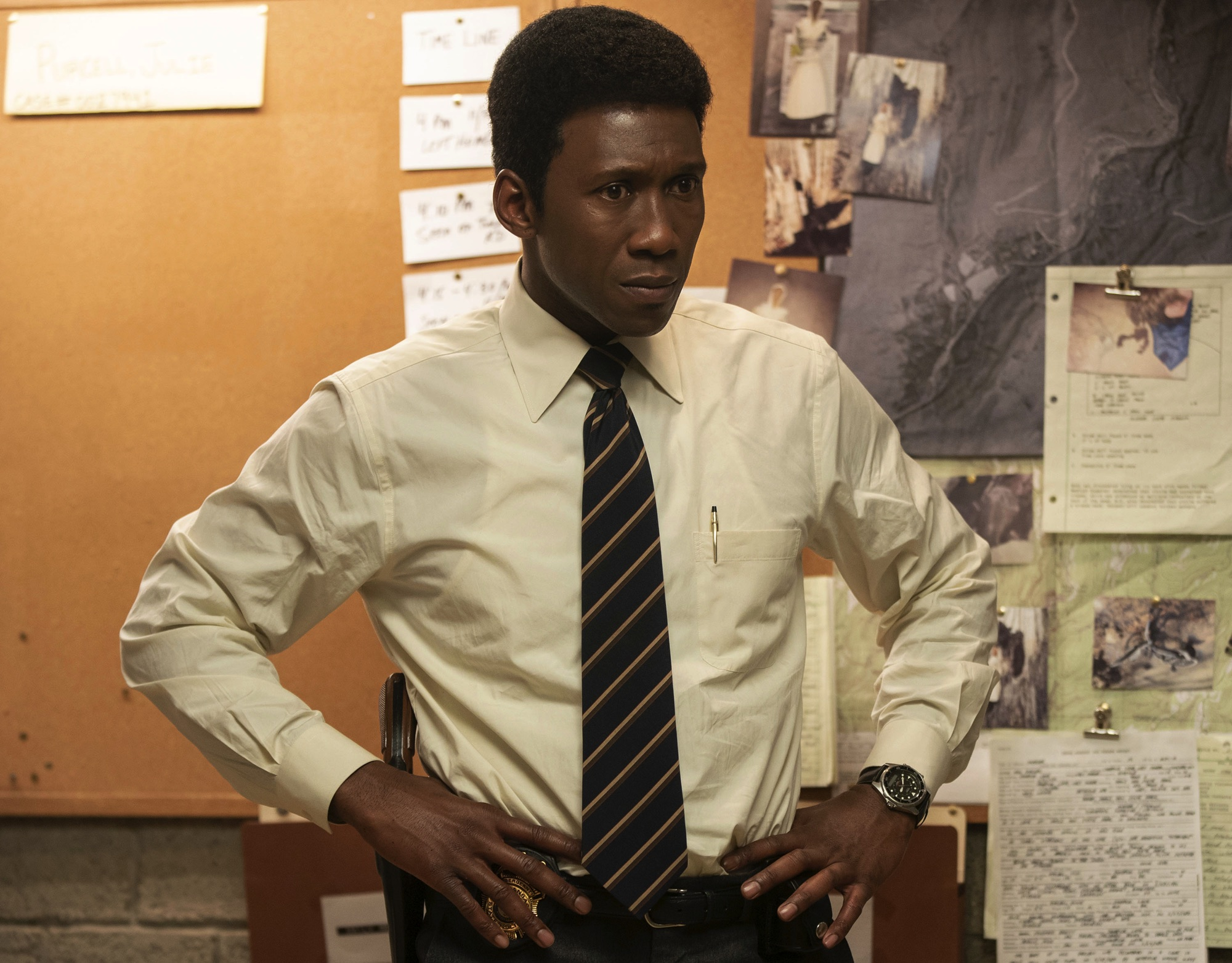 Mahershala Ali Casio wristwatch in HBO True Detective Season 3