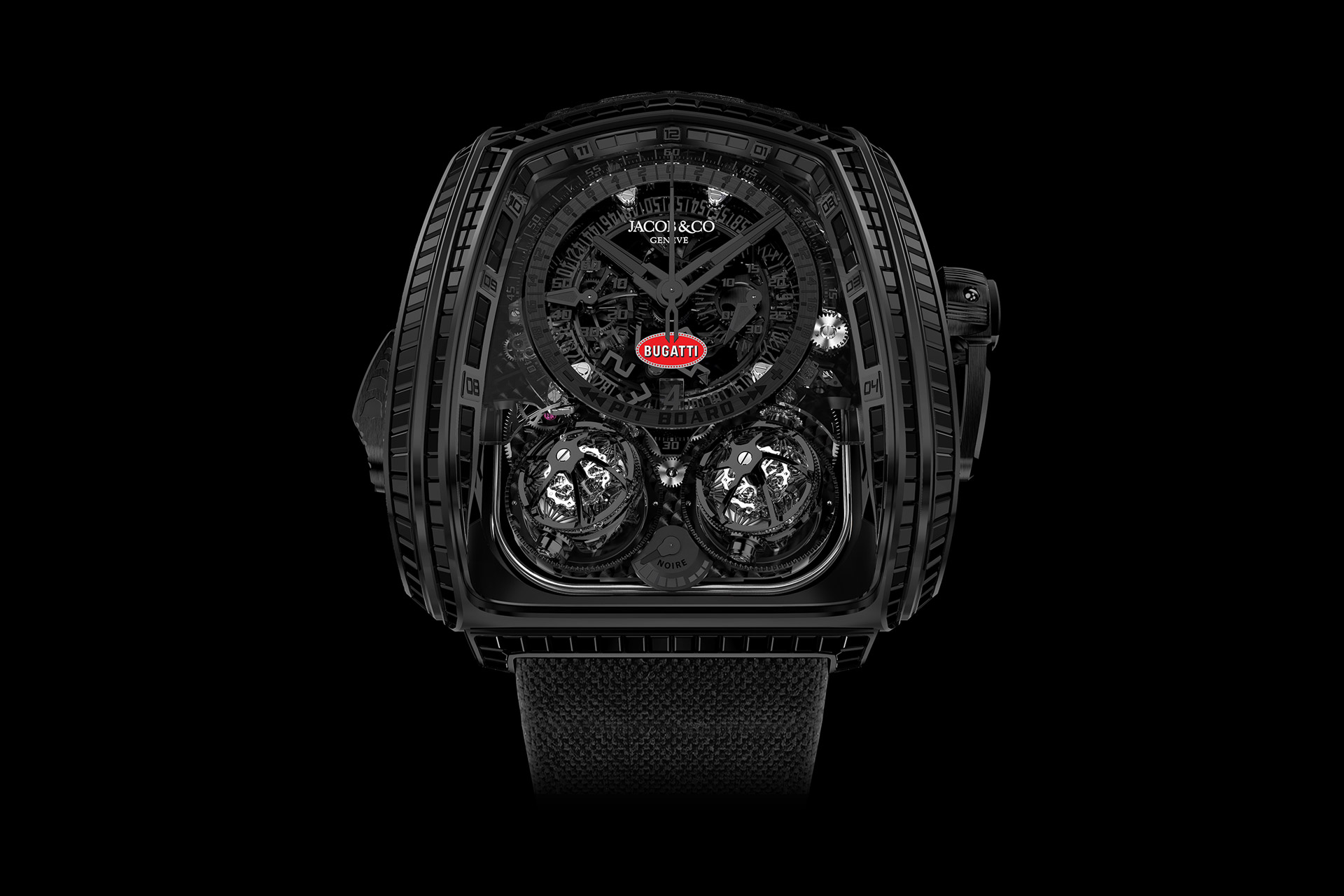 Jacob & Co. Twin Turbo Furious La Montre Noire Bugatti