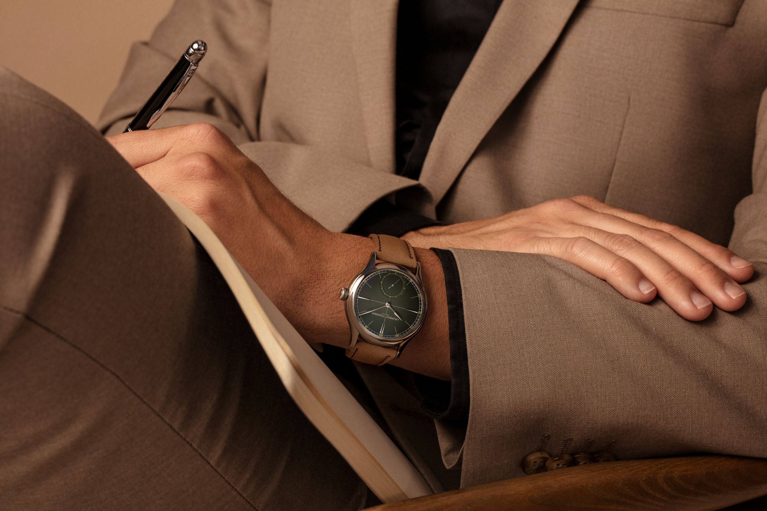 Laurent Ferrier Classic Origin Green wristshot