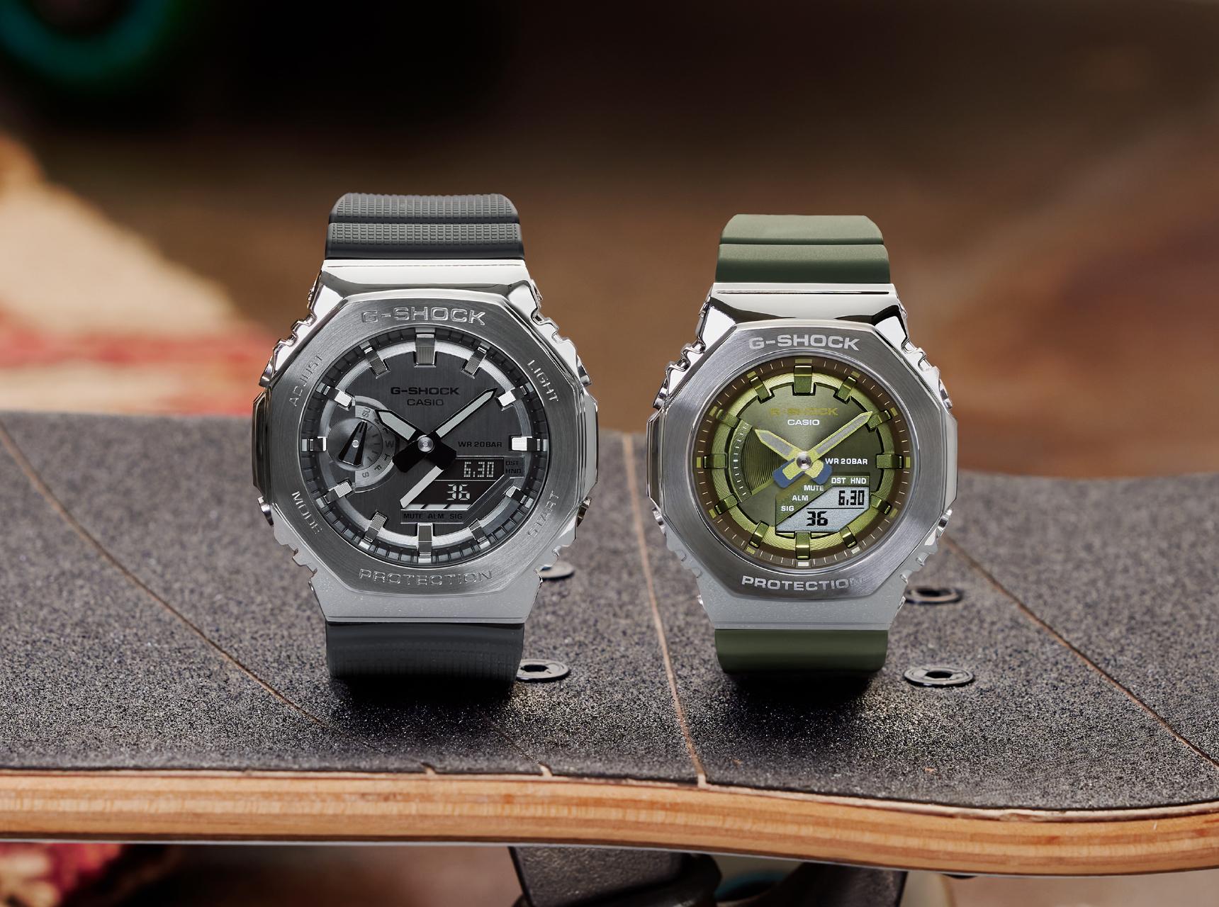CasiOak metal 44 and 40 mm