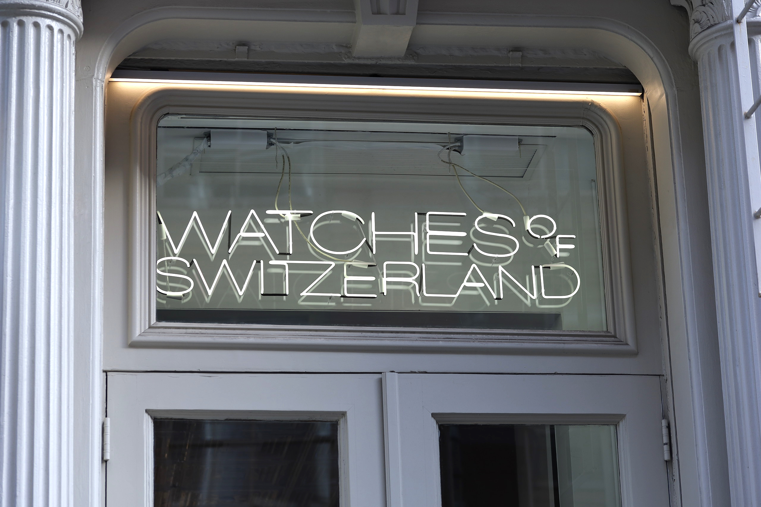 Watches of Switzerland SoHo LED door sign